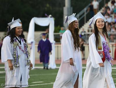 Oroville High School's Class of 2016 graduates Friday, June 10, 2016, at Harrison Stadium in Oroville, California. (Dan Reidel -- Mercury-Register)