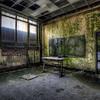 Abandoned school's classroom