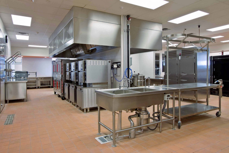 Shared kitchen for both schools