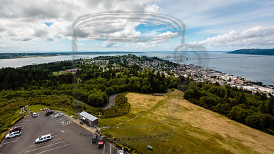 Astoria, OR, the Columbia River, and the Pacific. Sweet view. (mvp tip: buy balsa wood gliders in the store, climb the tower, and release them. they're biodegradable.)