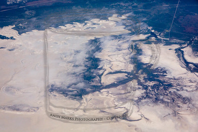 """Maybe up by the """"Spiral Jetty"""", though I can't spot it in all the swirls. This looks water free.."""