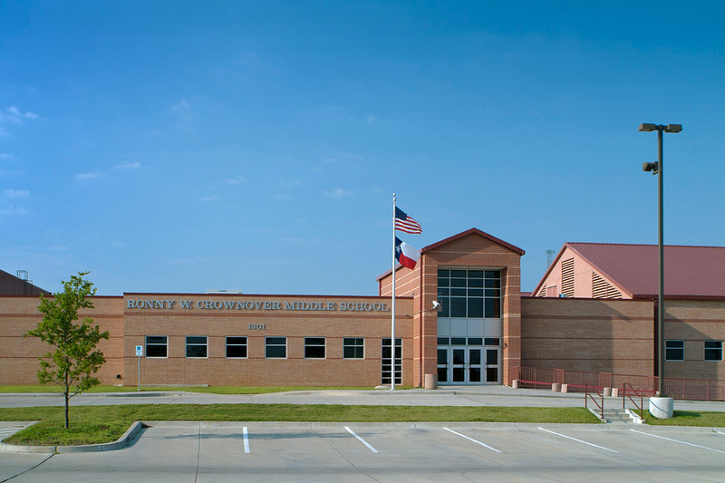 Crownover Middle School, Denton ISD.  Client:  Charter Builders Inc.