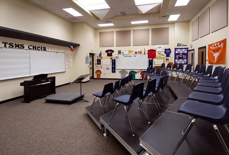 Trinity Springs Middle School, Keller TX.  Client: VLK Architects, Arlington TX.