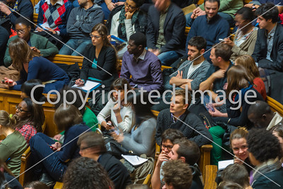 Paris, France, French Republic and equal rights: Sorbonne University Students meeting with Christiane TAUBIRA Minister of Justice, 18/3/2013