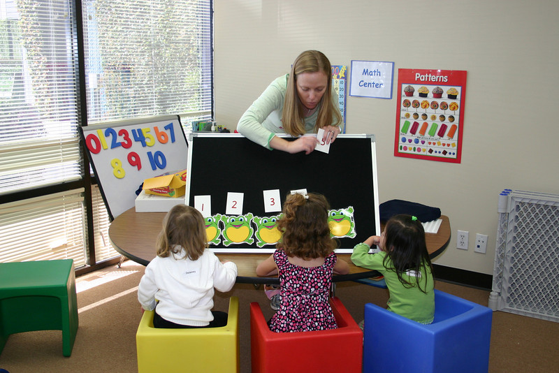 practicing early math concepts during math center