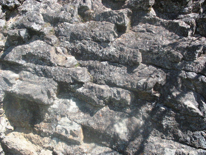 April 3, 2011. Columns of igneous rock formed due to speed of cooling