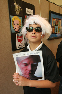 Third grader David Tasanasanta was American artist Andy Warhol during the Metropolitan Art Museum of St. Jude showing May 21.