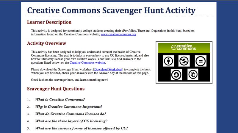 Creative Commons - Scavenger Hunt