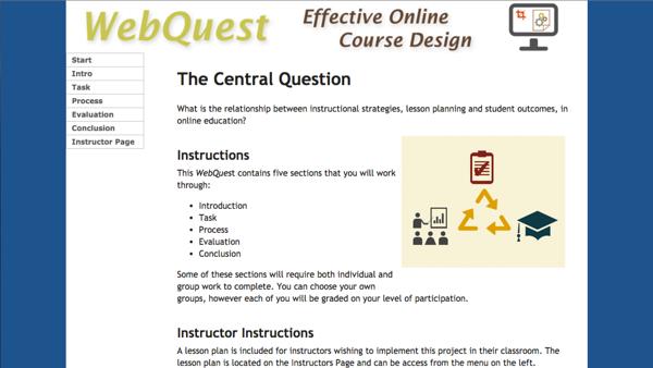 Effective Online Course Design - WebQuest