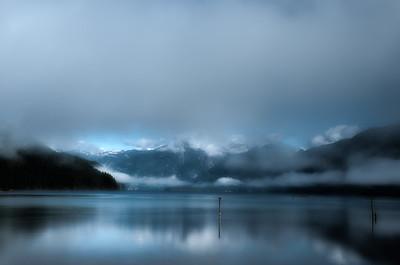 Pitt Lake Morning Moutains