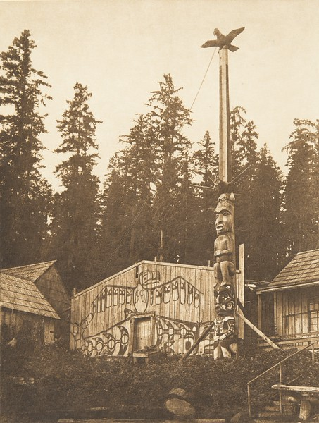 A Koskimo House (The North American Indian, v. X. Norwood, MA: The Plimpton Press, 1915)