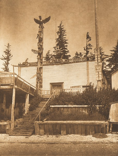 Tenaktak House, Harbledown Island (The North American Indian, v. X. Norwood, MA: The Plimpton Press, 1915)