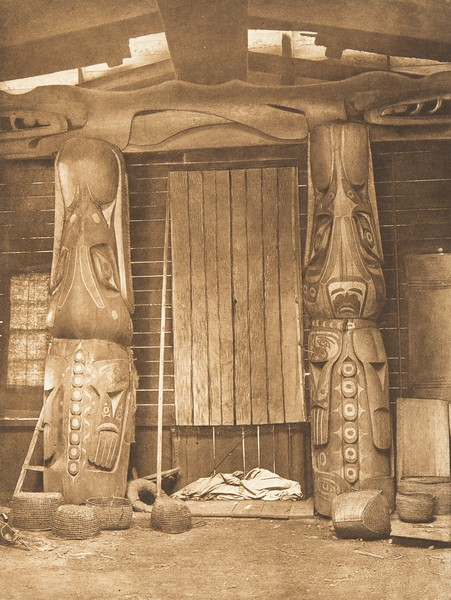 Front Interior Posts of a Koskimo House (The North American Indian, v. X. Norwood, MA: The Plimpton Press, 1915)