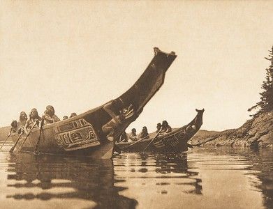 Tenaktak Canoes (The North American Indian, v. X. Norwood, MA: The Plimpton Press, 1915)