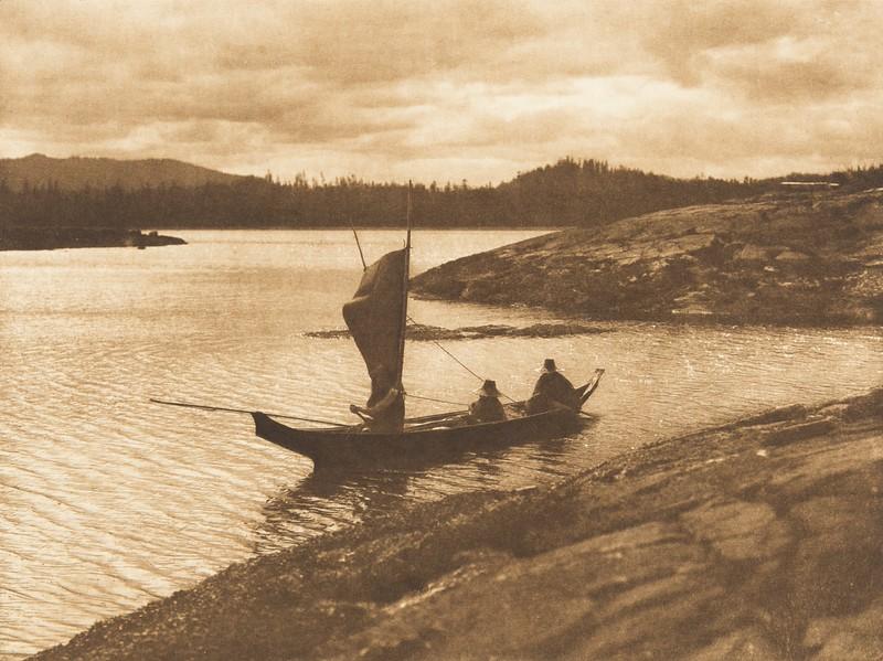 Sailing - Qagyuhl (The North American Indian, v. X. Norwood, MA: The Plimpton Press, 1915)