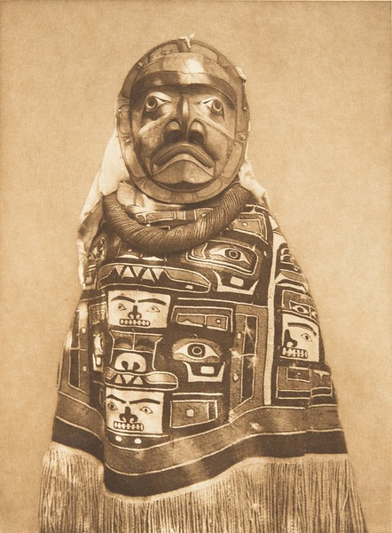 A Tlu'wulahu Costume - Qagyuhl (The North American Indian, v. X. Norwood, MA: The Plimpton Press, 1915)