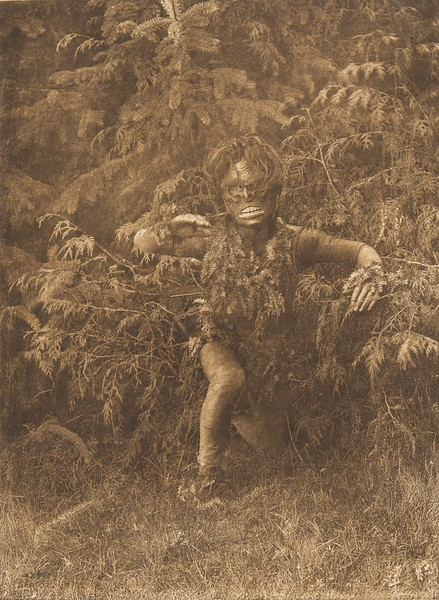 Paqusilahl Emerging from the Woods - Qagyuhl (The North American Indian, v. X. Norwood, MA: The Plimpton Press, 1915)