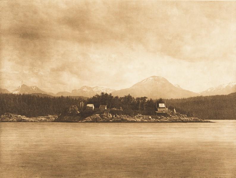 Mamalelekala Cemetary on Village Island (The North American Indian, v. X. Norwood, MA: The Plimpton Press, 1915)