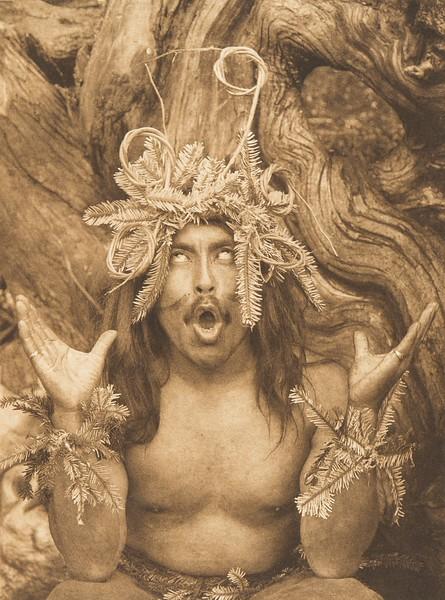 Hamatsa Emerging From the Woods - Koskimo (The North American Indian, v. X. Norwood, MA: The Plimpton Press, 1915)