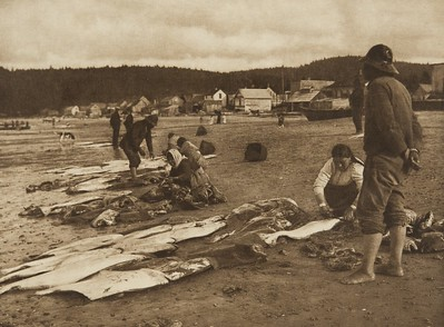 Halibut fishers - Neah Bay (The North American Indian, v. XI. Cambridge, MA: The University Press, 1916)