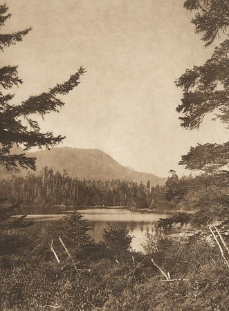 The lake at Nootka  (The North American Indian, v. XI. Cambridge, MA: The University Press, 1916)