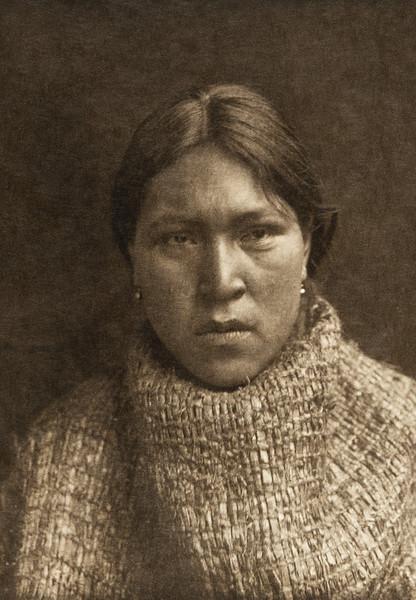 Hesquiat girl in cedar-bark costume (The North American Indian, v. XI. Cambridge, MA: The University Press, 1916)