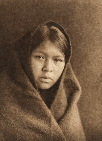 A Haida girl (The North American Indian, v. XI. Cambridge, MA: The University Press, 1916)