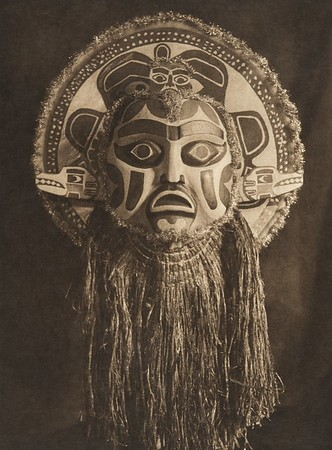 Dancing mask - Nootka (The North American Indian, v. XI. Cambridge, MA: The University Press, 1916)