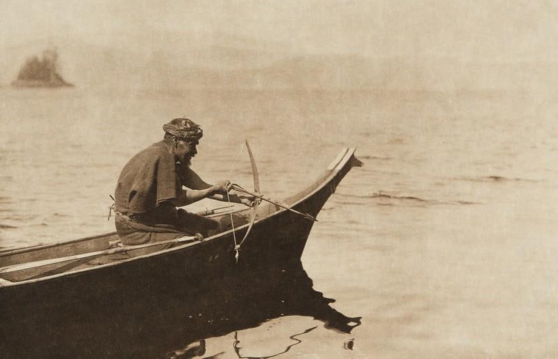 A sea-otter hunter (The North American Indian, v. XI. Cambridge, MA: The University Press, 1916)