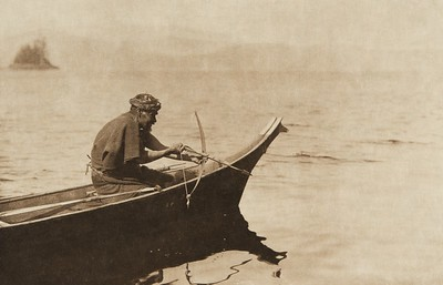 A sea-otter hunter (The North American Indian, v. XI. Cambridge, MA: The University Press, 1916)