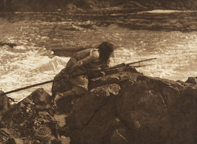 Waiting for the seal (The North American Indian, v. XI. Cambridge, MA: The University Press, 1916)