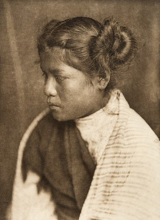 An East Mesa girl (The North American Indian, v. XII. Norwood, MA, The Plimpton Press, 1922)