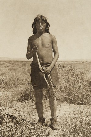 A snake priest (The North American Indian, v. XII. Norwood, MA, The Plimpton Press, 1922)