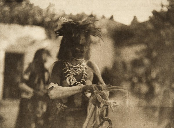 """The """"catcher"""" (The North American Indian, v. XII. Norwood, MA, The Plimpton Press, 1922)"""