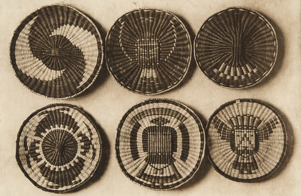 Oraibi plaques (The North American Indian, v. XII. Norwood, MA, The Plimpton Press, 1922)