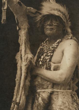 White Deerskin dance costume - Hupa (The North American Indian, v. XIII. Norwood, MA, The Plimpton Press,  1924)