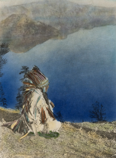 Day dreams - Crater Lake (The North American Indian, v. XIII. Norwood, MA, The Plimpton Press,  1924)