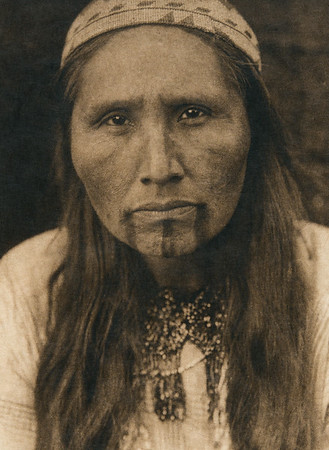 Tolowa tattooing (The North American Indian, v. XIII. Norwood, MA, The Plimpton Press,  1924)