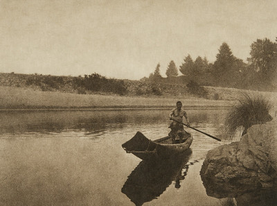 Hupa fisherman (The North American Indian, v. XIII. Norwood, MA, The Plimpton Press,  1924)
