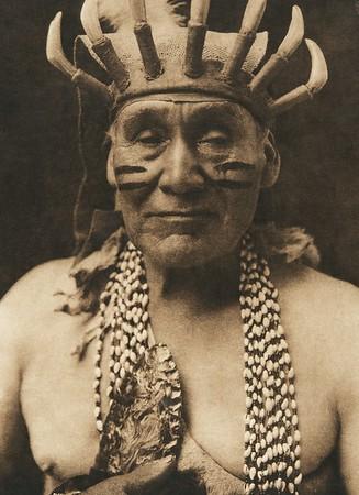 Obsidian-bearer White Deerskin dance - Hupa (The North American Indian, v. XIII. Norwood, MA, The Plimpton Press,  1924)
