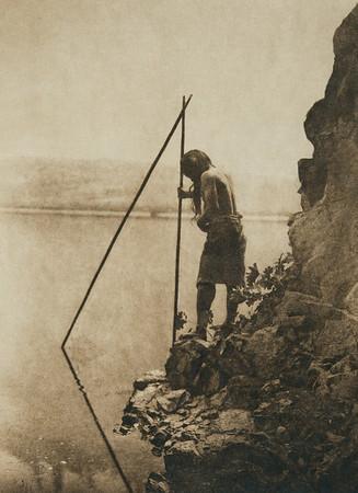 Hupa salmon-fishing (The North American Indian, v. XIII. Norwood, MA, The Plimpton Press,  1924)