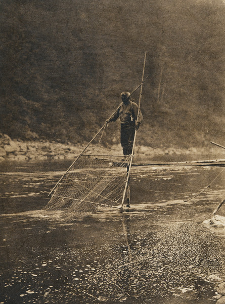 Yurok fisherman (The North American Indian, v. XIII. Norwood, MA, The Plimpton Press,  1924)