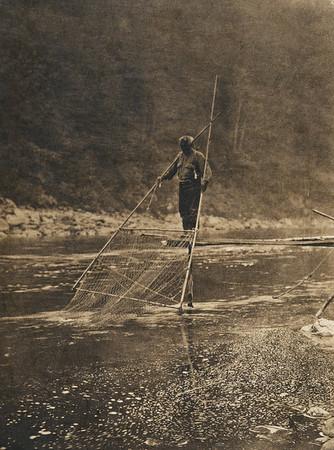 Yurok fisherman (The North American Indian, v. XIII. Norwood, MA, The Plimpton Press,  1924)