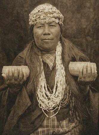 Hupa female shaman (The North American Indian, v. XIII. Norwood, MA, The Plimpton Press,  1924)