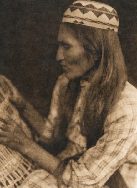 Tolowa basketmaker (The North American Indian, v. XIII. Norwood, MA, The Plimpton Press,  1924)