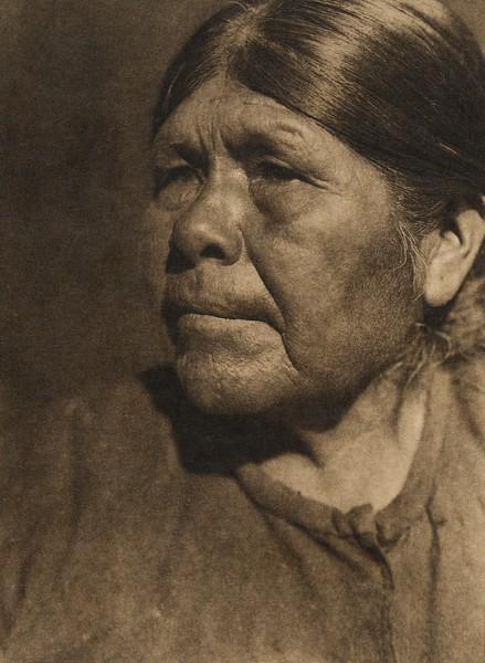 A Chukchansi woman - profile (The North American Indian, v. XIV. Norwood, MA, The Plimpton Press, 1924)
