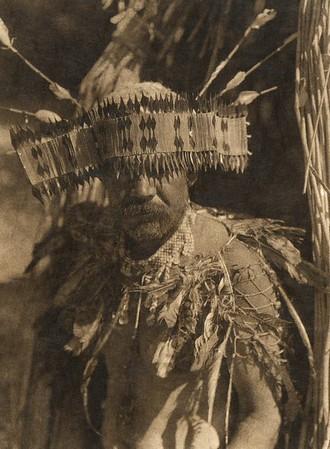Pomo dance costume (The North American Indian, v. XIV. Norwood, MA, The Plimpton Press, 1924)