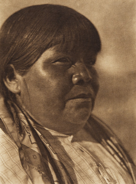 A Pyramid Lake matron - Paviotso (The North American Indian, v. XV. Norwood, MA, The Plimpton Press, 1926)