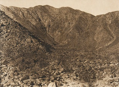 Site of Prehistoric Village - Cahuilla  (The North American Indian, v. XV. Norwood, MA, The Plimpton Press, 1926)