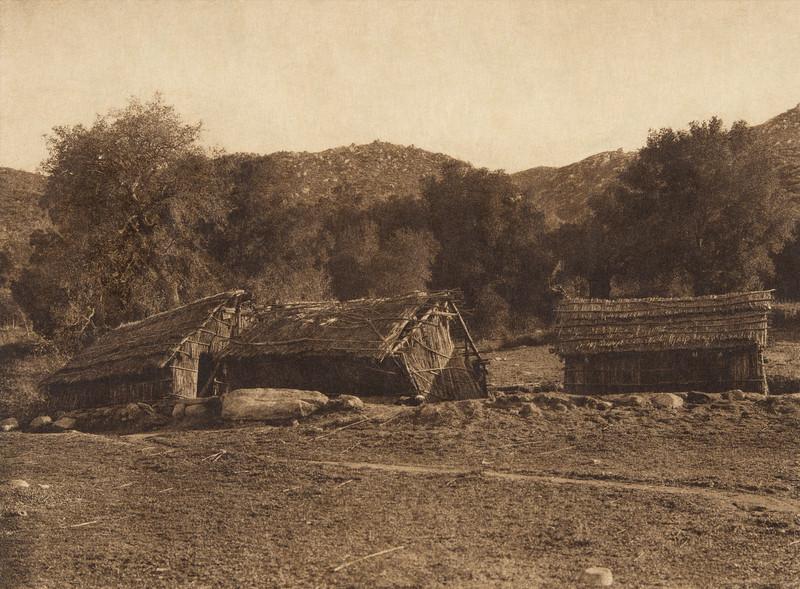 Modern rancheria at Santa Ysabel - Diegueño  (The North American Indian, v. XV. Norwood, MA, The Plimpton Press, 1926)